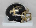 Alvin Kamara Autographed New Orleans Saints Blaze Mini Helmet- JSA Witnessed Auth