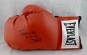 Buster Douglas Signed Everlast Red Boxing Glove W/ TYSON KO- JSA W Auth *Bottom