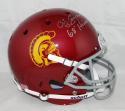 O. J. Simpson Heisman Signed USC Trojans F/S Schutt Helmet- JSA W Auth *Silver