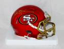 Deion Sanders Signed San Francisco 49ers BLAZE Mini Helmet- JSA W Auth *Gold