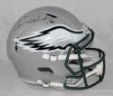 Carson Wentz Autographed Eagles Full Size BLAZE Helmet- Fanatics Auth *Black