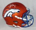 John Elway Autographed Denver Broncos F/S BLAZE Helmet- JSA-W Auth *White