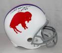 Orenthal James Simpson Autographed Bills F/S 65-73 TB Helmet w/ HOF- JSA W Auth *Blk