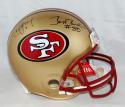 Steve Young Jerry Rice Autographed 49ers F/S Authentic Helmet JSA-W Auth *Blk