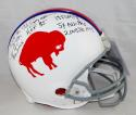 O.J. Simpson Signed Bills F/S Authentic 65-73 TB Helmet W/ 7 Stats- JSA W Auth *Blk