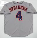 George Springer Signed Houston Astros Gray Majestic Jersey w/ Insc- JSA W Auth