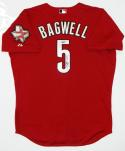 Jeff Bagwell Signed Houston Astros Brick Red Authentic Majestic Jersey- TriStar Auth