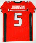 Andre Johnson Autographed Orange College Style Jersey - JSA W Auth *5