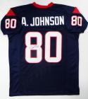 Andre Johnson Autographed Blue Pro Style Jersey- JSA Witness Auth *8