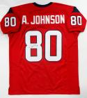 Andre Johnson Autographed Red Pro Style Jersey- JSA Witness Auth *8