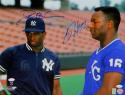 Bo Jackson & Deion Sanders Autographed 16x20 NY & KC Photo- JSA W Auth *Blue Top Center