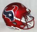 JJ Watt Autographed Houston Texans Full Size Blaze Helmet- JSA W Auth *Front