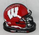JJ Watt Signed Wisconsin Red Schutt Mini Helmet JSAW Auth/Watt Holo *Sil/BFM