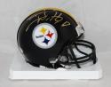 TJ Watt Autographed Pittsburgh Steelers Mini Helmet- JSA Witnessed Auth *Gold