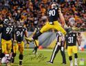 TJ Watt Autographed Pittsburgh Steelers 16x20 Jumping PF- JSA W Auth/Holo *Blk