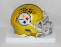 TJ Watt Autographed Pittsburgh Steelers BLAZE Mini Helmet- JSA W Auth *Black