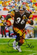 Jerome Bettis Autographed Pittsburgh Steelers Goal Line Art Card- JSA W Auth