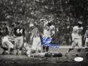 Chuck Bednarik Autographed Eagles HOF 8x10 Standing Over Gifford- JSA Auth*Blue