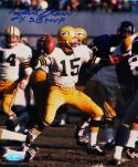 Bart Starr Autographed GB Packers 8x10 Against Vikings Photo- TriStar Auth *Blue Top