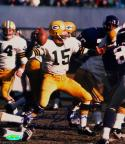 Bart Starr Signed GB Packers 8x10 Against Vikings Photo- TriStar Auth *Blue/Bottom