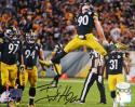 TJ Watt Autographed Pittsburgh Steelers 8x10 Jumping PF- JSA W Auth/Holo *Blk