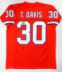 Terrell Davis Autographed Orange Pro Jersey SB MVP Insc- JSA W Authenticated