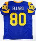 Henry Ellard Autographed Blue Pro Style Jersey W/ Pro Bowl Insc- JSA W Auth