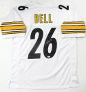LeVeon Bell Autographed White Pro Style Jersey- JSA Authenticated *6