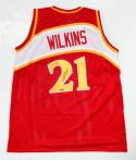 Dominique Wilkins Autographed Red Basketball Jersey- TriStar Auth *2