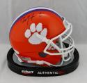 DeAndre Hopkins Autographed Clemson Schutt Mini Helmet- JSA W Auth *Black