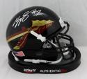 Kelvin Benjamin Signed FL State Black Schutt Mini Helmet- JSA W Auth *Silver