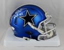Tony Dorsett Signed Dallas Cowboys Blaze Mini Helmet W/ HOF- JSA W Auth *Silver