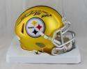 Rod Woodson Autographed Pittsburgh Steelers Blaze Mini Helmet W/ HOF- JSA W Auth