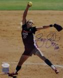 Jennie Finch Team USA 8x10 Pitching PF Photo - JSA-W Auth *Blue