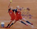Jennie Finch Team USA 8x10 Multi-Shot Photo - JSA-W Auth *Blue
