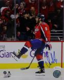 Alex Ovechkin Signed 8x10 Washington Capitals Celebrating Red Jersey Photo- JSA W Auth