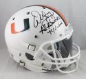 Warren Sapp Signed F/S Miami Hurricanes White Helmet W/ 2 Insc- JSA W Auth *Blk