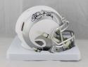 Eric Dickerson Autographed Los Angeles Rams Ice Mini Helmet W/ HOF- JSA W Auth