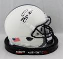Saquon Barkley Autographed Penn State Schutt Mini Helmet- JSA Witnessed Auth
