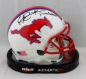 Eric Dickerson Autographed SMU Mustangs Mini Helmet W/ Pony Express- JSA W Auth