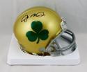 Joe Montana Autographed Notre Dame Shamrock Mini Helmet- JSA Witnessed Auth