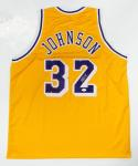Magic Johnson Autographed Gold Jersey- JSA Witness Authenticated