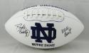 Rudy Ruettiger Autographed Notre Dame Logo Football w/ Never Quit- JSA W Auth