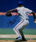 Doc Gooden Autographed NY Mets 8x10 Pitching Photo- MLB Authenticated *Black