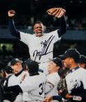Doc Gooden Signed NY Yankees 8x10 Celebrating Photo- MLB Authenticated *Black
