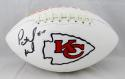 Patrick Mahomes II Autographed KC Chiefs Logo Football - JSA Witnessed Auth