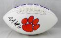Deandre Hopkins Autographed Clemson Tigers Logo Football- JSA Witnessed Auth