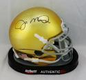 Joe Montana Signed Notre Dame Schutt Textured Mini Helmet- JSA W Auth *Black