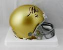 Golden Tate Autographed Notre Dame Riddell Mini Helmet - Beckett W Auth *Black