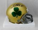 Golden Tate Autographed Notre Dame Shamrock Mini Helmet - Beckett W Auth *Black